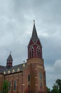 396px-Catholic_Church_in_Warsaw,_North_Dakota