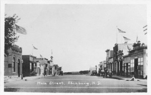Edinburgh, North Dakota, Main Street, 1920s