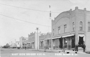 Park River, ND: East side of Briggs Ave., 1909