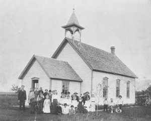 Glenwood School, near Hoople, ND, 1899