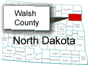 walsh-county-north-dakota-map